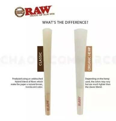 RAW Classic 98 special Size Pre-Rolled Cones (50 Pack) 100%AUTHENTIC 4