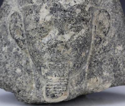 Granite Egyptian Pharaoh Head Sculpture from Morris Lapidus Estate Lot 110 8