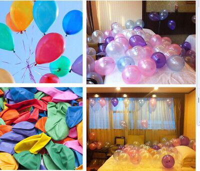 100Pcs Colorful Pearl Latex Balloon Celebration Party Wedding Birthday 10 inch 3