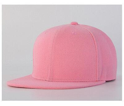 Snapback Baseball Cap Plain Hip Hop Retro Classic Vintage Funky Golf Flat Hat 7