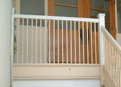 Wought iron stair railing w/pine cap, Greenbrier High School, Ronceverte, WV 2