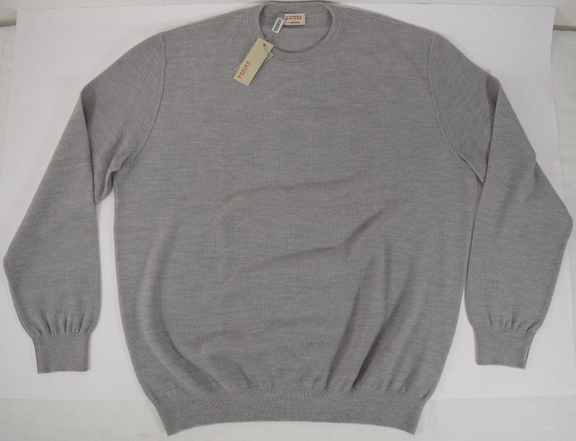 Maglione lana girocollo grigio FENZI man grey crewneck sweater wool 52-54