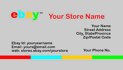 500 EBAY SELLER Personalized Business Cards-FREE SHIPPING-Glossy or Matte 10