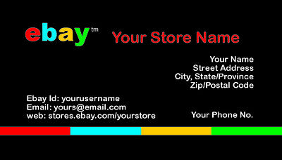 500 EBAY SELLER Personalized Business Cards-FREE SHIPPING-Glossy or Matte 7