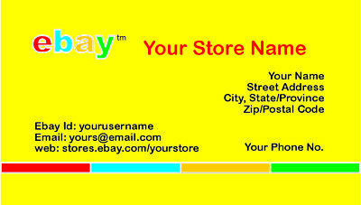 500 EBAY SELLER Personalized Business Cards-FREE SHIPPING-Glossy or Matte 6