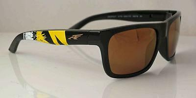 Arnette AN 4176-11 BAD BRAINS DROPOUT Mens Polished Gold Mirror Rare Sunglasses