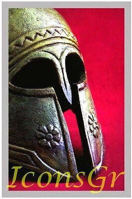 Ancient Greek Bronze Museum Replica Vintage Spartan Officer Battle Helmet 300 2