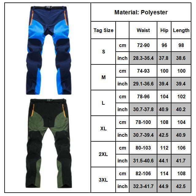 Men Tactical Trousers Waterproof Hiking Climbing Sport Combat Cargo Work Pants 3