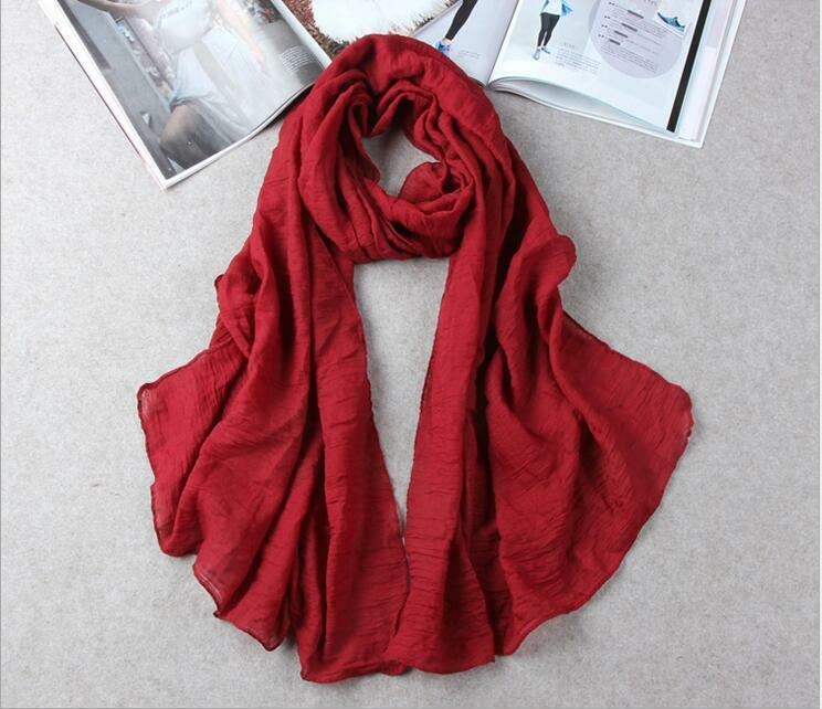 Hot Lady Women Long Candy Colors Soft Cotton Scarf Wrap Shawl Scarves Fashion 9