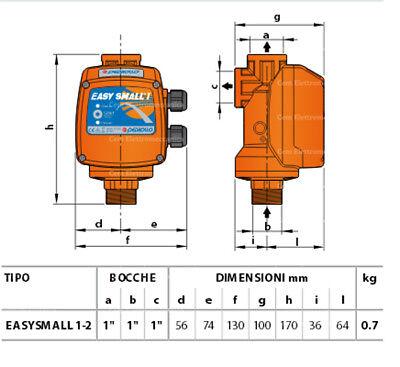 Presscontrol EASY SMALL II Pedrollo Regolatore pressione elettronico pompa 2 hp 3