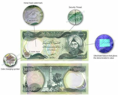 10 x 10,000 Iraqi Dinar Notes = 100,000 IQD - Limited Quantity - Fast Delivery 7