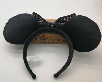 HongKong Disney Parks Minnie Mouse Headband Ears Sequin Costume Bow Hat 2