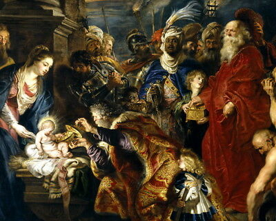 Adoration by the Magi by Peter Paul Rubens Oil painting Printed on Canvas 2