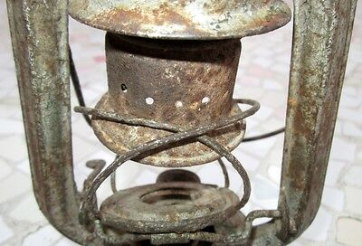 "Antique Made In Germany Feuerhand ""superbaby"" Rail Road Lantern, Excellent 4"
