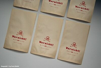 20 x Tüten Vorsicht! Gift mit Totenkopf um 1900 6