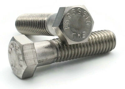 316 Stainless Steel Hex Cap Screw Bolt FT UNC 7//16-14 x 1-1//4 Qty 25