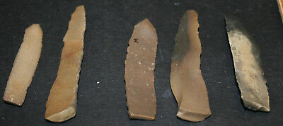 10 Egyptian Faiyum Predynastic Flint Flaked Hand Stone Tools 7400-6400 BC #1 5