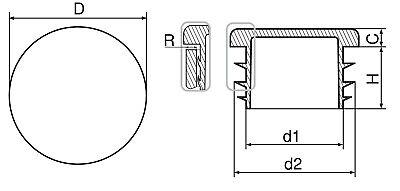 Endstopfen Blindstopfen Rohrstopfen Kappen Stopfen für Rohre ⌀10 - 90mm