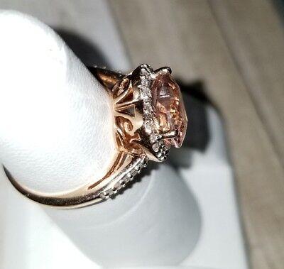 999 Kay Kays Jewelers 10k Rose Gold 2 75ct Morganite Heart Halo Diamond Ring 200 00 Picclick
