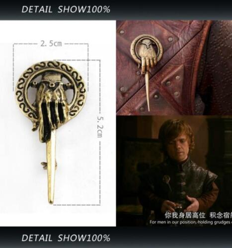 3D Game of Thrones Hand of King Metal Alloy Brooch Pin Badge Replica Insignia D 7