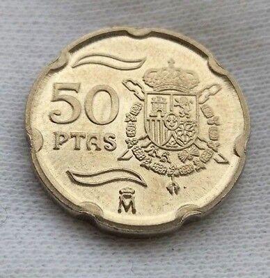 50 PESETAS 2000 Rey Juan Carlos I España SIN CIRCULAR SC Escudo Real 2