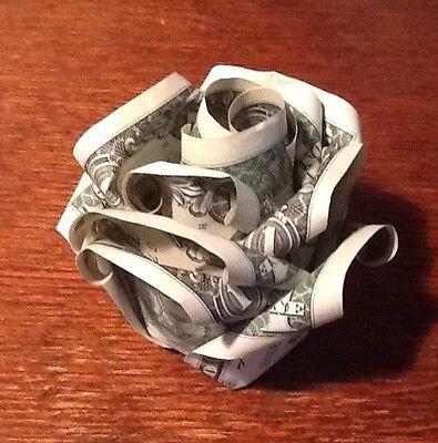 6 Origami Money Rose In Display Cube 2500 Picclick