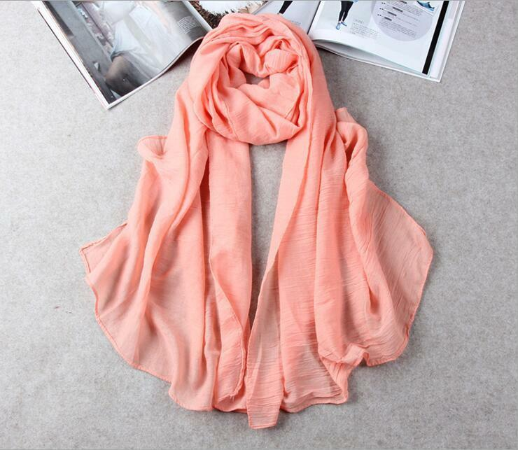 Hot Lady Women Long Candy Colors Soft Cotton Scarf Wrap Shawl Scarves Fashion 11