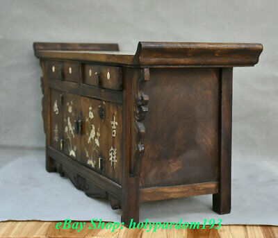 """23"""" Old Chinese Huanghuali Wood Dynasty Drawer Classical Cupboard Cabinet Desk 6"""