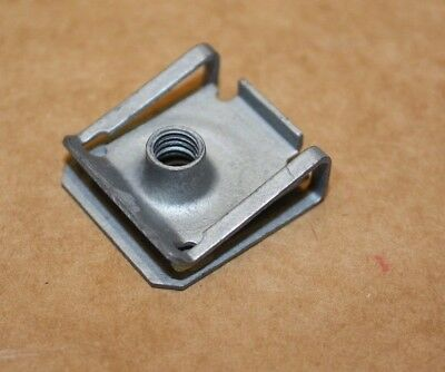SPIRE CLIPS /'U/' NUTS ZINC PLATED NO.8 LONG QTY 50