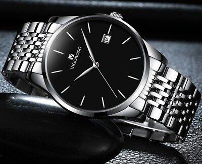 Men's Waterproof Military Sport Date Analog Quartz Wrist Watch Business Watches 6