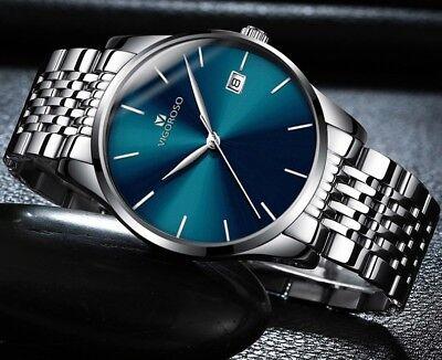 Men's Waterproof Military Sport Date Analog Quartz Wrist Watch Business Watches 4