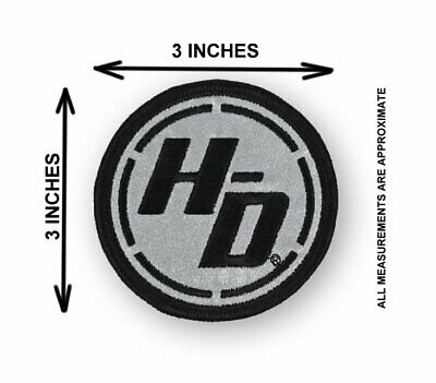 Harley Davidson Reflective Ignition Circle  Vest Patch * Discontinued * 3 Inch 2