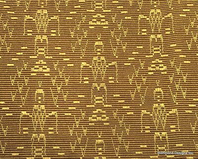 "Antique Radio Speaker/Grille Cloth, 18x24, ""Aztec"" 2 Pc SALE ! See Description !"