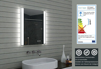 BADEZIMMERSPIEGEL BADSPIEGEL LED Multifunktions-Touchschalter ...