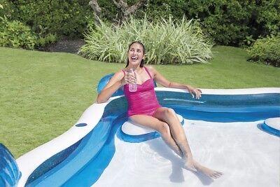 Intex piscina gonfiabile 4 sedili porta bevande nuoto famiglia 56475 Nuovo Rotex 4