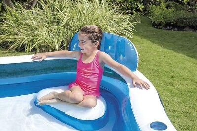 Intex piscina gonfiabile 4 sedili porta bevande nuoto famiglia 56475 Nuovo Rotex 5