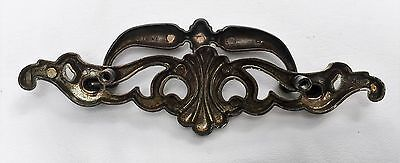 "Brass Antique Hardware Vintage Drawer Pull French Provincial MCM 3 1/2"" Centers"