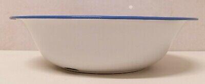 Antiguo Cuenco Emailleschüssel Decoración de Rociadura Azul Blanco Arte 20er Año 10