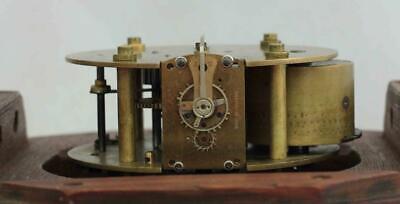 "Rare Miniature Antique English Mahogany 8 Day 7"" Fusee Dial Clock Webb Sandgate 10"