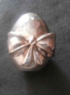 uovo - ovetto - fiocco - placcato - argento 990 - R 10-13 Gr. - firenze 2