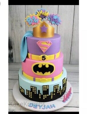 Pleasant Edible Large Sugar Supergirl Personalised Birthday Cake Topper Funny Birthday Cards Online Elaedamsfinfo