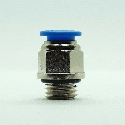 Male Stud Straight Push Fit Pneumatic Fittings for Air Hose Tube 4 - 16 mm NEW 4