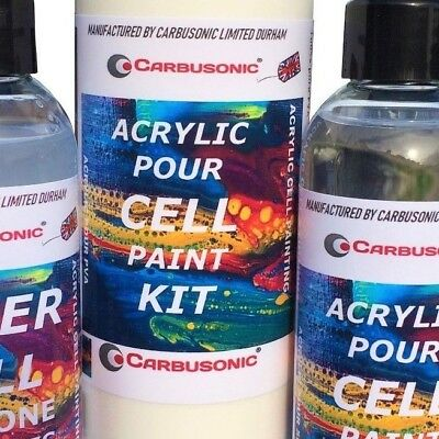 Acrylic pouring medium silicone PVA cell making effects kit with Super cell mix. 2