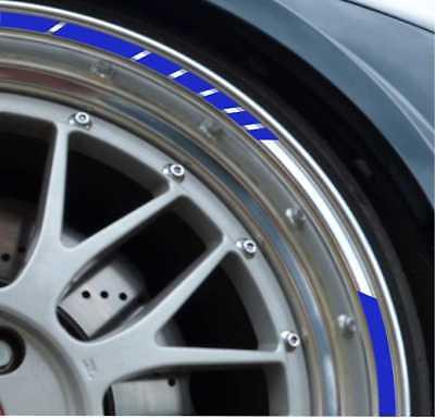 matt silbergrau NEW Felgenrandaufkleber GP Style Auto Motorrad Felgenaufkleber