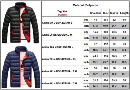 Men's Winter Lightweight Down Jacket Quilted Padded Puffer Coat Outwear Overcoat 2