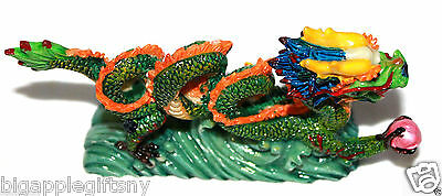 "NEW COLOR Chinese Feng Shui Dragon Figurine Statue for Luck & Success 6"" LONG 5"