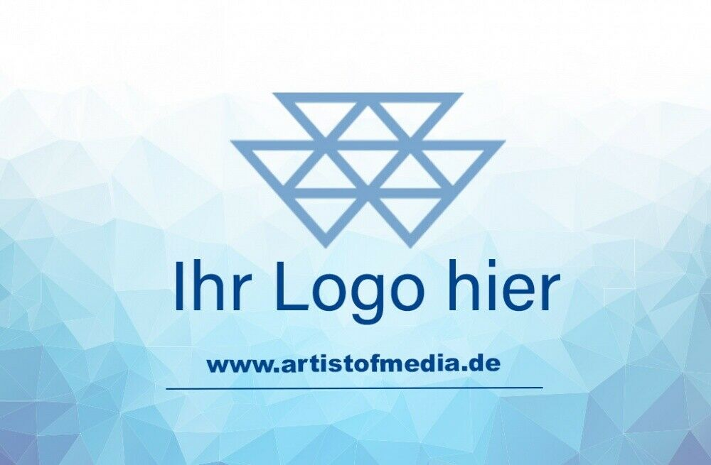 Visitenkarten individuell Fertiges Design Blau + Ihr Inhalt Fertig Business Kart 3