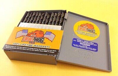 Drill Hog® 60 Pc NUMBER Drill Bit Set Wire Gauge Bits MOLY M7 Lifetime Warranty 2
