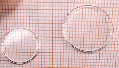 UHRENGLAS für Armbanduhr Kunststoff rund PLAN / Durchmesser AUSWAHL Uhrengläser 3