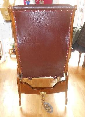 antigua silla de , médico, para clínica . Pieza rarísima de museo. Luneville. 7